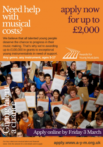 Awards for Young Musicians 2017 poster