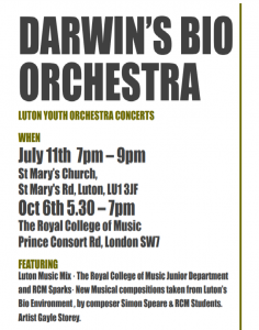 Darwin's Bio Orchestra 11 July 6 October 2018 concerts
