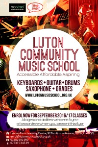 Luton Community Music School flyer