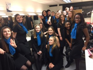 Luton Youth Cantores back stage at The Opera Boys' concert